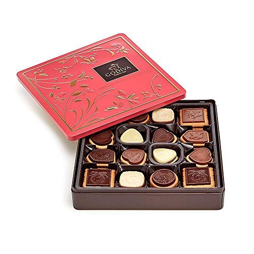 Belgian Chocolate Biscuits - Godiva Chocolatier Chocolate Biscuit Cookies Tin Gift Pack