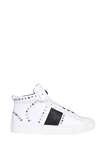 Versace Collection Homme V900716VM00393V874 Blanc Cuir Baskets ... 18aea3bf4af