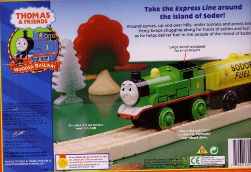 - Thomas & Friends Wooden Railway - Battery-Powered Percy Express Pack with Sodor Fuel Car