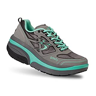 Gravity Defyer Women's G-Defy Ion Teal Gray Comfortable Walking 10 M Shoes Pain Relieving Shoes