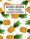 Five Year Planner & Calendar: Large Long-Term 60 Monthly Agenda Organizer Pineapples (2020-2024 Simple Monthly Planners)