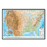 United States Advanced Physical Mounted Framed Wall Map Frame Color: Black