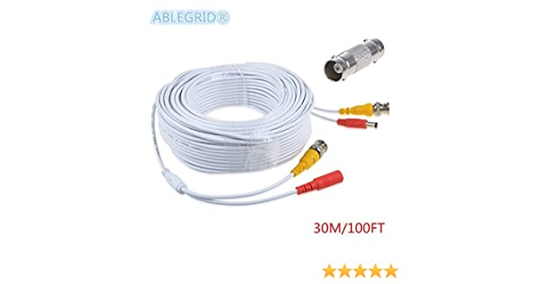 25ft BNC Video Power Cable Wire Cord w Connector for EZVIZ 1080P HD BNC systems