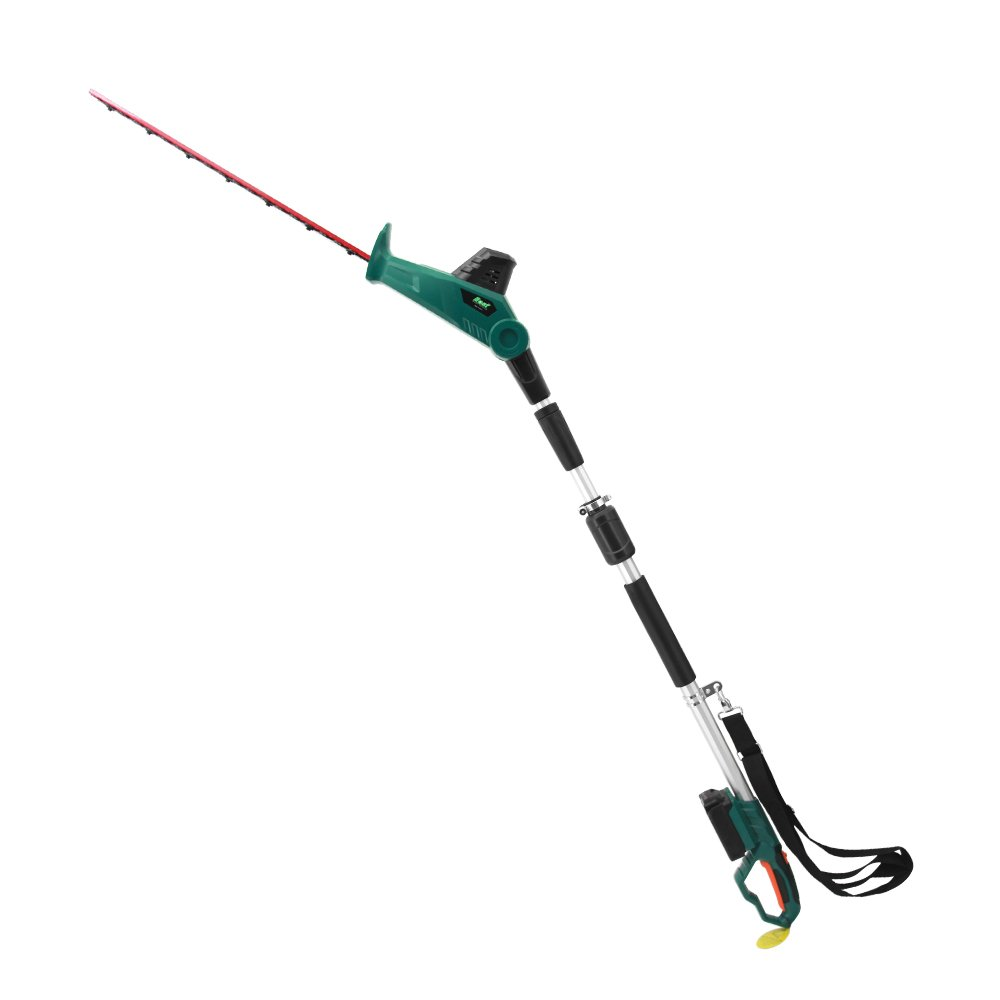 EAST 20V Li-ion Cordless 2 in 1 Long Reach Telescopic Battery Electric Pole Hedge Trimmer, 20'' Blade - Battery & Charger Included