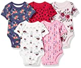 Rosie Pope Baby Girls 5 Pack Bodysuits (More Colors Available), Flowers, 6-9 Months