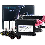 "Innovited 35W HID Xenon Conversion Kit ""All Bulb Sizes and Colors"" with Slim Ballast - H11 H9 H8 - 6000K - 2 Year Warranty"