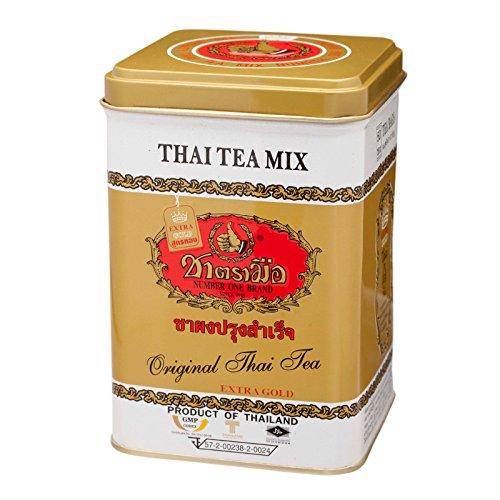 EXTRA GOLD The original Thai Iced Tea Mix Tea bag ~ Number One Brand 4.41Oz./125g;50 count,Original Number One Brand Thai Iced Tea Mix established since 1945