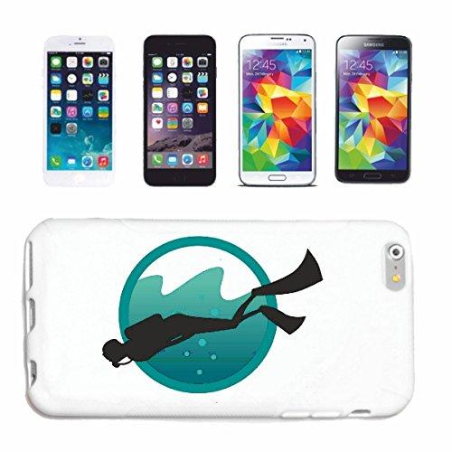 """cas de téléphone iPhone 7S """"SILHOUETTE plonger plongeur ÉQUIPEMENT PLONGÉE PLONGÉE"""" Hard Case Cover Téléphone Covers Smart Cover pour Apple iPhone en blanc"""