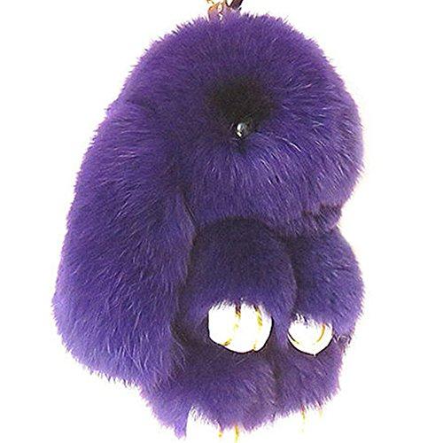 Mai Yi Soft Lovely Rabbit Doll Bunny Keychain Faux Fur Fluffy Keychain