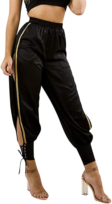 OverDose pantalones Negro Mujer Talle Alto Pantalones Deportivos ...