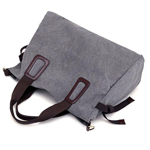 all single hombro coffee gran de bolsa lkklily azul Purple mochila capacidad bolsa fashion lona de match Crossbody 4wtH8