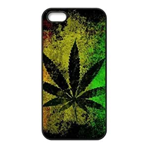 Weed Design Unique Customized Hard Case Cover for iPhone 5,5S, Weed iPhone 5,5S Cover Case