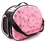 Pink Pet Dogs and Cats Travel Bag Soft EVA Portable Foldable Pet Bag M Sizes Breathable Outdoor Carrier Pet Bag