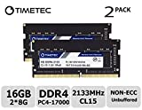 Timetec Hynix IC 16GB Kit (2x8GB) DDR4 2133MHz PC4-17000 Unbuffered Non-ECC 1.2V CL15 1Rx8 Single Rank 260 Pin SODIMM Laptop Notebook Computer Memory RAM Module Upgrade (16GB Kit (2x8GB))