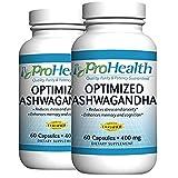 Cheap ProHealth Optimized Ashwagandha KSM-66 2-Pack (400 mg, 60 Capsules) (Ashwagandha Root Supplement) (Organic)