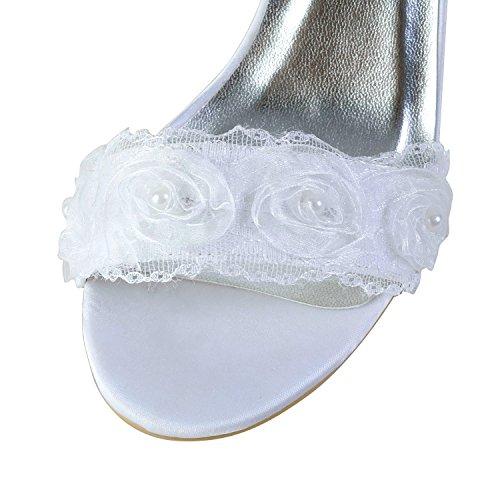Minitoo , Sandales pour femme - blanc - White-8cm Heel,
