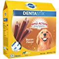 Pedigree Dentastix Large Dental Dog Treats Bacon Flavor, 1.72 Lb. Pack (32 Treats), Makes A Great Holiday Snack For Dogs from Pedigree