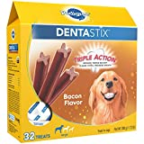 Pedigree Dentastix Large Dental Dog Treats Bacon Flavor, 1.72 Lb. Pack (32 Treats), Makes A Great Holiday Snack For Dogs Review