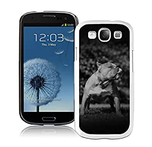 Papers Co Mi Pitbull In Park Nature Animal Dark White For Samsung Galaxy S3 i9300 Case Genuine and Cool Design