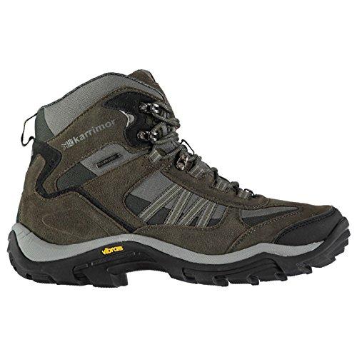 Karrimor Mens Aspen Mid Weathertite Walking Boots Waterproof Breathable Shoes Black Sea UK 8.5 (42.5) by Karrimor