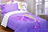 Disney Tinkerbell Twin/Full Comforter, Powder Purple