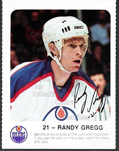 ((CI) Randy Gregg Hockey Card 1986-87 Edmonton Oilers Red Rooster 20 Randy Gregg)