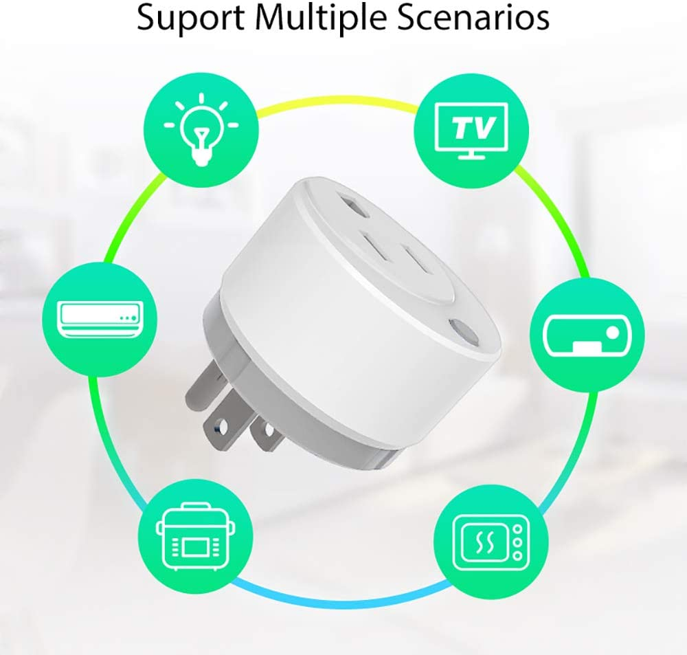 1PK Grey Work with Wink NEO Z-Wave Plus Smart Mini Plug Z-Wave Outlet With Timing and Energy Monitoring Home Automation Vera Fibaro /& more SmartThings