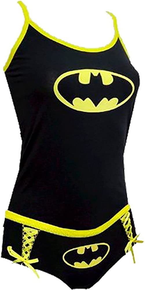 DC Comics Batman V Superman Women/'s 2 Piece Tank Cami /& Panty Set Size S M L
