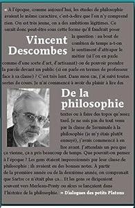 De la philosophie par Vincent Descombes