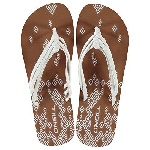 ONeill Mujer Ditsy Chancletas Señoras Pantuflas Zapatillas Zapatos Calzado Blanco