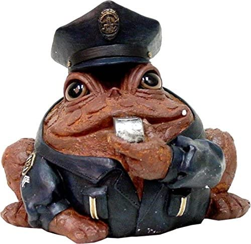 toad figurine cops