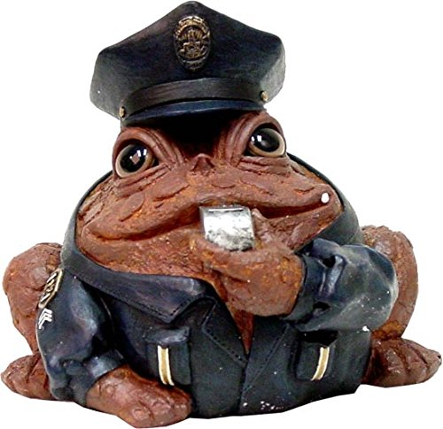 York Painted Garden (Homestyles Toad Hollow #94086 Figurine Policeman in Cop Uniform with Cap Badge & Whistles Rescue Character Garden Small 5.5