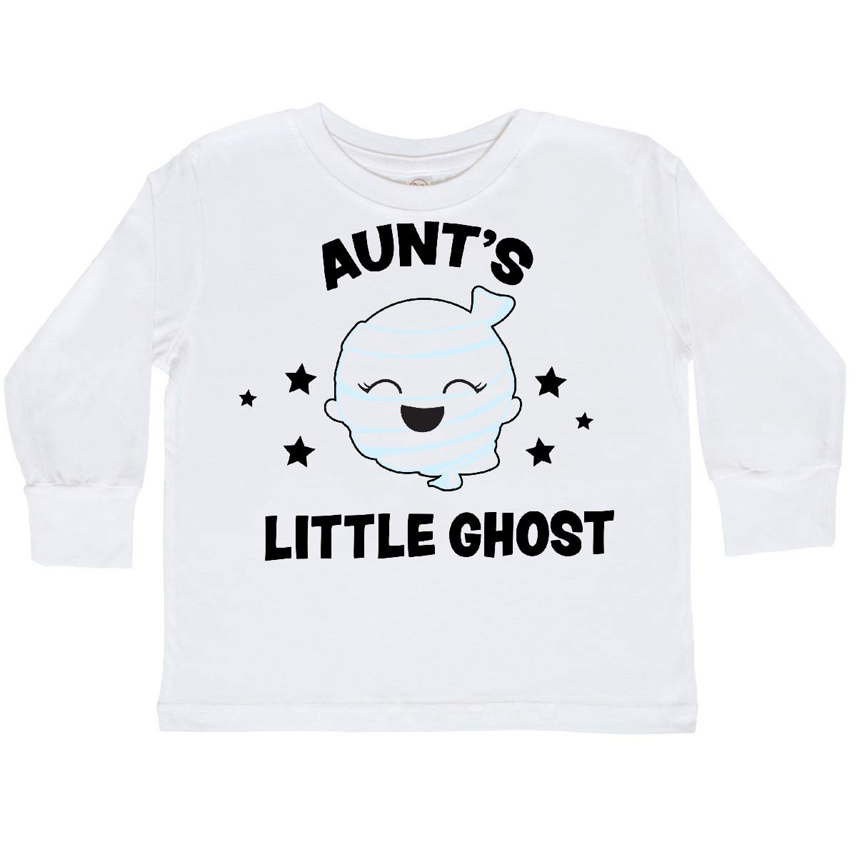 inktastic Cute Aunts Little Ghost with Stars Toddler Long Sleeve T-Shirt