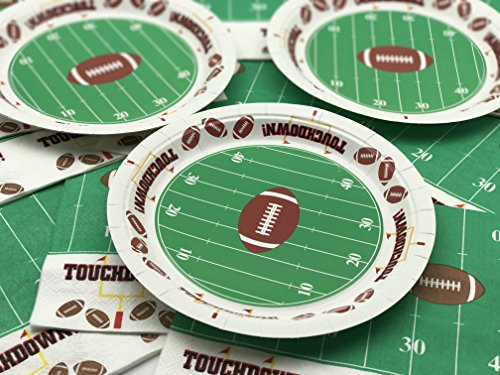 Football TouchDown 9 Inches Dinner Plates Party Accessory 60 Piece (Football Themed Party)