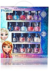 These pretty polish shades will give her the most royal nails in all of Arendelle; Here, she gets 18 pastel-perfect polish bottles, each featuring a different; Frozen character. With all these colors, she can alternate or mix and match. It's ...