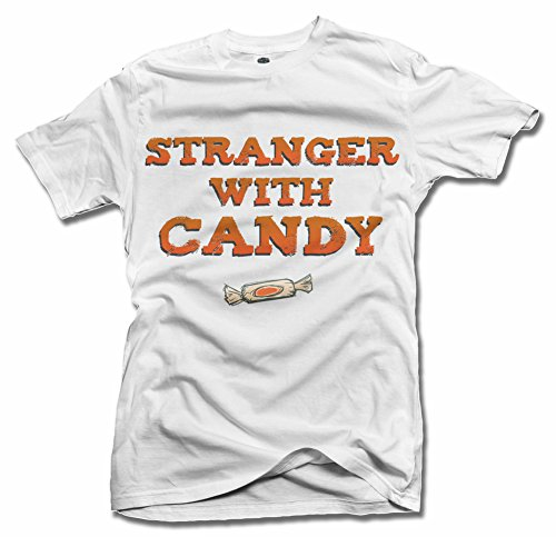 STRANGER WITH CANDY FUNNY HALLOWEEN T-SHIRT 5X White Men's Tee -