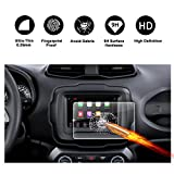 2018 Jeep Renegade Uconnect Touchscreen Car Display Navigation Screen Protector, R RUIYA HD Clear TEMPERED GLASS Protective Film Against Scratch High Clarity (7-Inch)