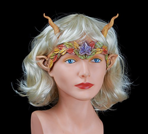Zagone Fall Fairy Head Piece Mask, Fantasy, Sprite, Horns