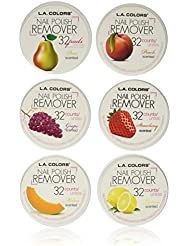 L.A. Colors Nail Polish Remover Pads 6 Fruit Scents...