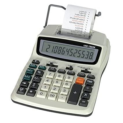 Leo 1222e - Calculadora (Impresora con fuente & 5 rollos de ...