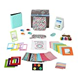 Fujifilm Instax Mini 9 Mint Design Camera Accessories Bundle, 14 Piece Set Includes: Camera Case with Strap, Albums, Color Filters, Selfie lens, Magnets + Hanging + Creative Frames, stickers, Gift Box