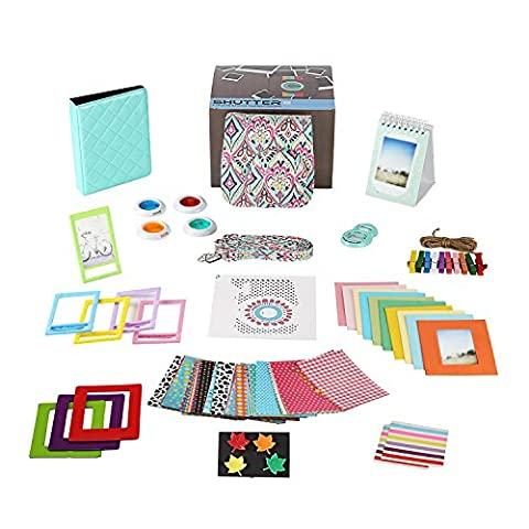 Fujifilm Instax Mini 9 Camera Accessories Bundle, 14 PC Mint Design Kit Includes: Instax Case with Strap, 2 Albums, Color Filters, Selfie lens, Magnets + Hanging + Creative Frames, stickers, Gift (Magnet For Mod)