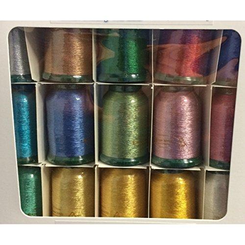 Kingstar Metallic Embroidery Thread Set MT1500
