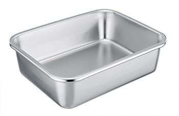 TeamFar Rectangular Cake Pan Stainless Steel Lasagna Pan