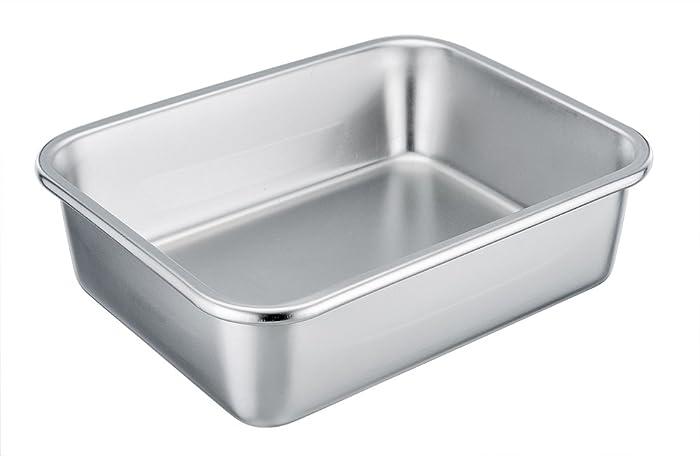 TeamFar Rectangular Cake Pan Brownie Pan, Stainless Steel Lasagna Casserole Baking Pan, 8''x10''x3'', Rust Free & Non Toxic, Easy Clean & Dishwasher Safe