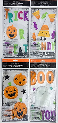 Candy Please Halloween Gel Clings, 4 Sheets! for $<!--$12.99-->