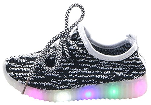 ShangYi Kids Girls Boys LED Shoes Light Up Sneakers Sports Loafers