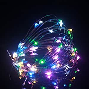 ALED LIGHT®Dimmable 5M Led String Lights Copper Wire 50LED Starry Light AA Battery Powered For Christmas Wedding and Party, suitable for indoors or outdoors (RGB)