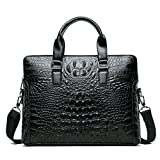 Boutique Crocodile Pattern Men's Handbag Computer Bag Casual Shoulder Messenger Business Bag