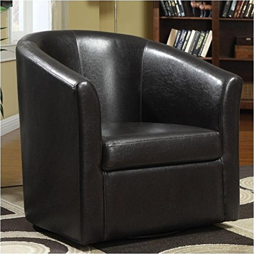 Coaster Home Furnishings Contemporary Accent Chair, Dark Brown/Dark Brown